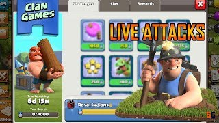 LIVE Clan Games | Miners Farming | Clash of Clans