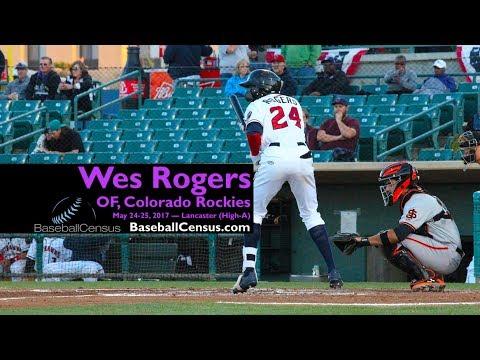 Wes Rogers, OF, Colorado Rockies — May 24-25, 2017