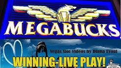 MEGABUCKS SLOT MACHINE-WINNING!-LIVE PLAY