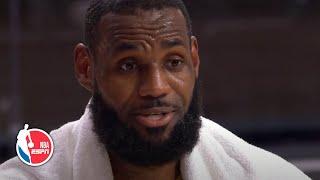 LeBron James reacts to the Lakers' big Game 2 win vs. Heat, talks honoring Kobe | 2020 NBA Finals