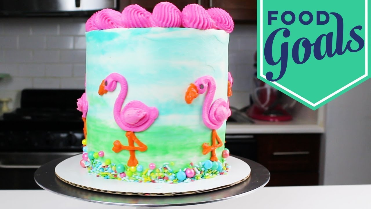 How to Make a Flamingo Cake | Food Network - YouTube