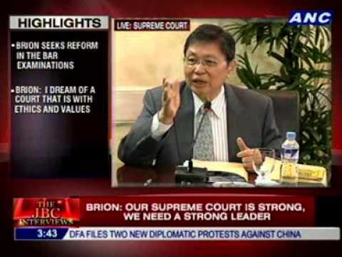 #CJsearch: Associate Justice ARTURO BRION 1/2