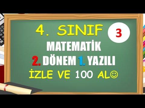 4. Sınıf Matematik 2. Dönem 1. Yazılı - 3 - Yardımcı Öğretmen