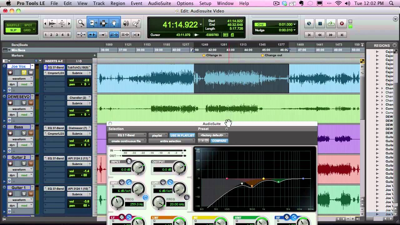 how to use audiosuite plugins in pro tools youtube