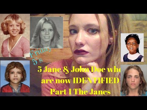 Friday 5's (Missing persons, Unidentified persons homicides)