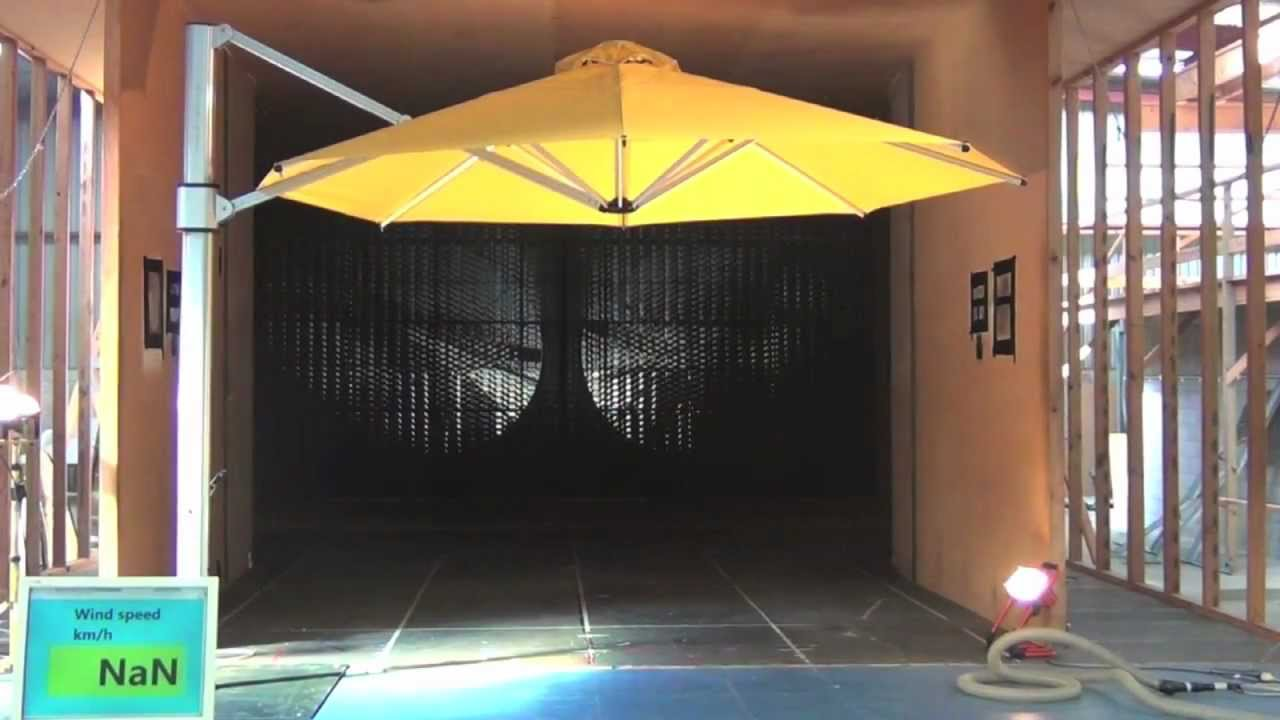Eclipse Cantilever Umbrella Wind Tunnel Test Youtube