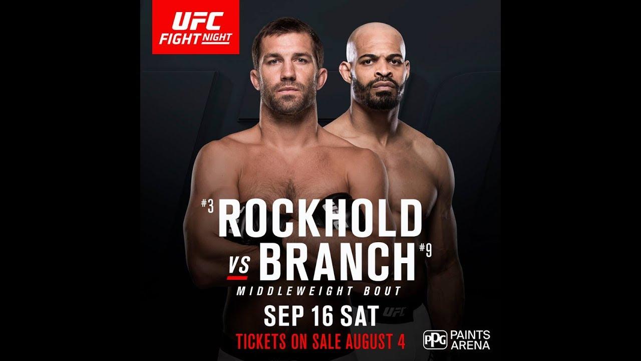 UFC Fight Night 116 Luke Rockh...