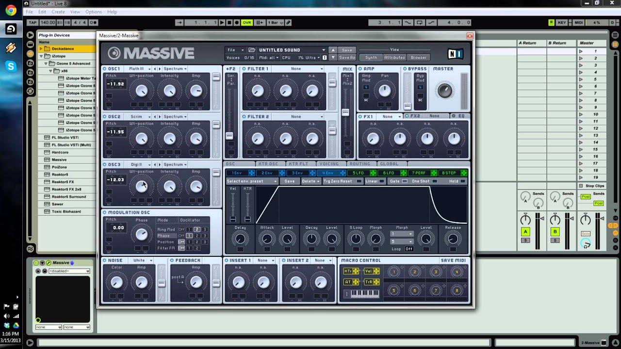 Download Native Instruments MASSIVE Dubstep Bass Tutorial - Datsik