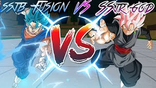 SSJR GOD VS SSJB FUSION | DRAGON BALL Z FINAL STAND | Roblox|