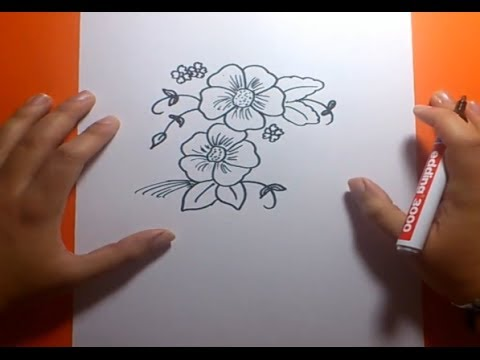 Como Dibujar Flores Paso A Paso 2 How To Draw Flowers 2 Youtube