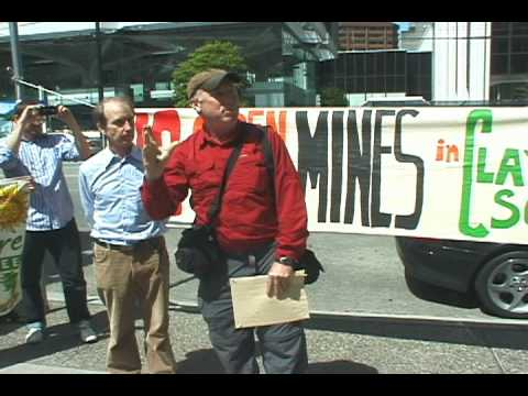 Clayoquot Sound Anti-Mine Rally at Imperial Metals AGM, Vancouver, May 19, 2010