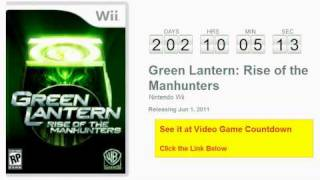 Green Lantern: Rise of the Manhunters Wii Countdown