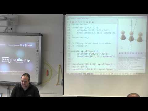 3D-Konstruktionszeichnungen ohne Zeichnen mit OpenSCAD (Workshop)