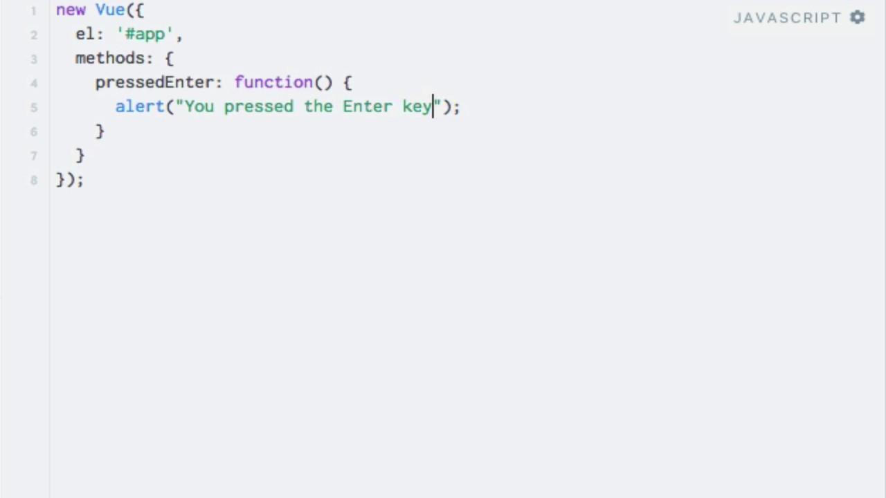 Vue js Key Modifiers