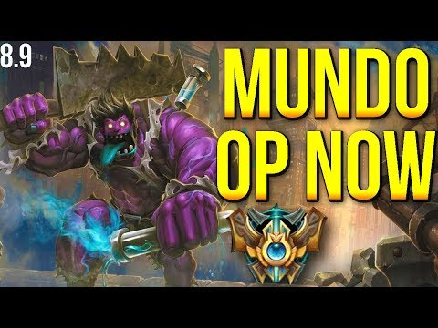 PATCH 8.9 MUNDO IS OP? | EUW Master Dr. Mundo Top Gameplay | S8 - League of Legends
