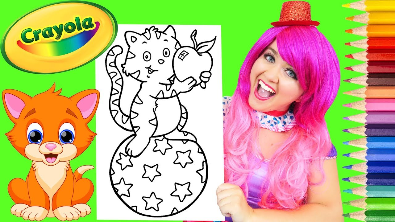 Coloring Kitty Cat Rainbow Star Ball Coloring Page Prismacolor ...