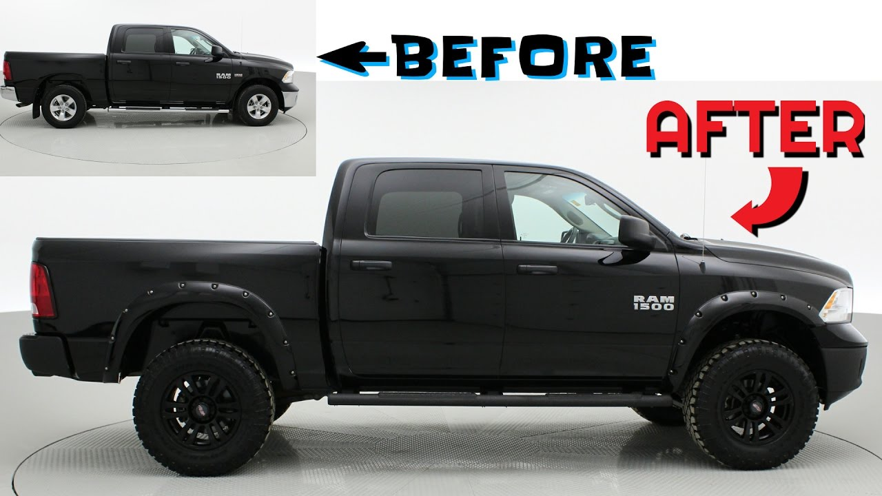 2015 Ram 1500 Leveling Kit >> Before After 2015 Ram 1500 Sxt Custom Lifted Trucks Ridetime