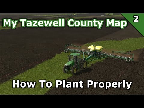 My Tazewell County Map | 2 | How to plant corn properly on this map.