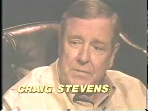 "Craig Stevens--1993 TV Interview, ""Peter Gunn"", Alexis Smith"