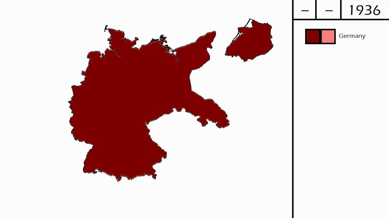 Map Of Germany 1939.Territorial Expansion Of Nazi Germany 1933 1939 Youtube