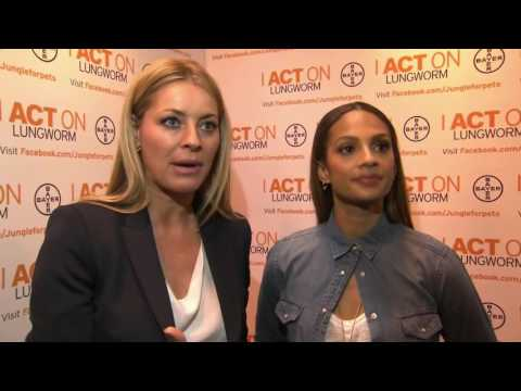 Our Clients Alesha Dixon and Tess Daly Speak at Crufts