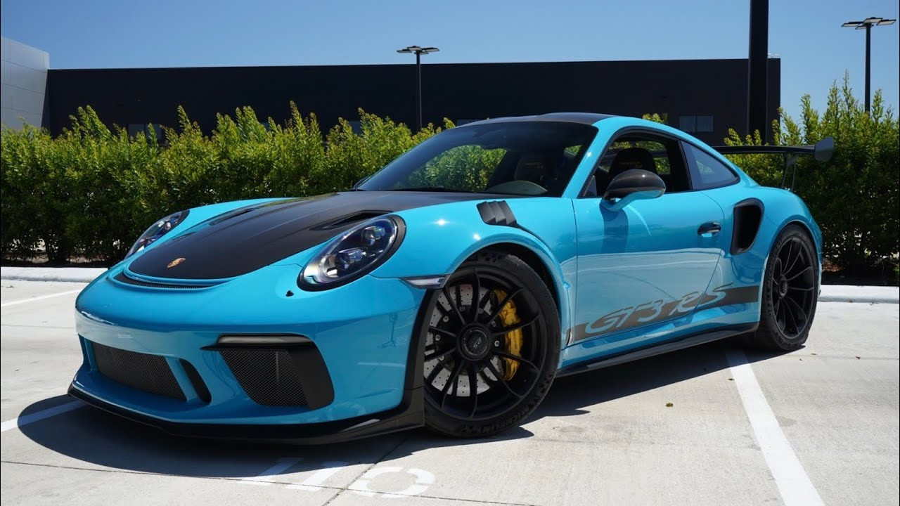 2019 Miami Blue Porsche 911 Gt3 Rs Porsche North Houston Youtube