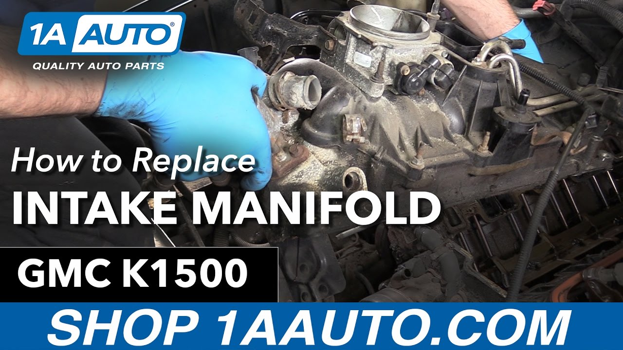 how to replace intake manifold gaskets 96 99 gmc k1500 5 7l [ 1280 x 720 Pixel ]