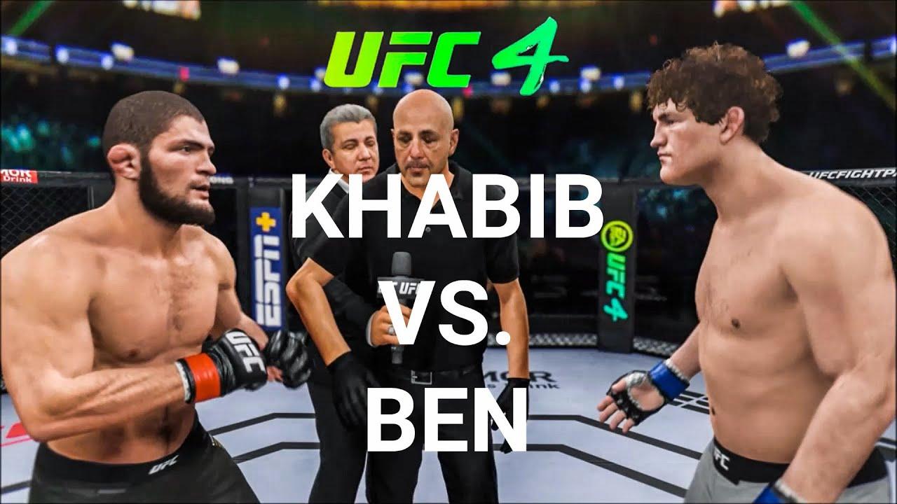 Khabib vs. Ben Askren (EA Sports UFC 4) Champions Fight ...