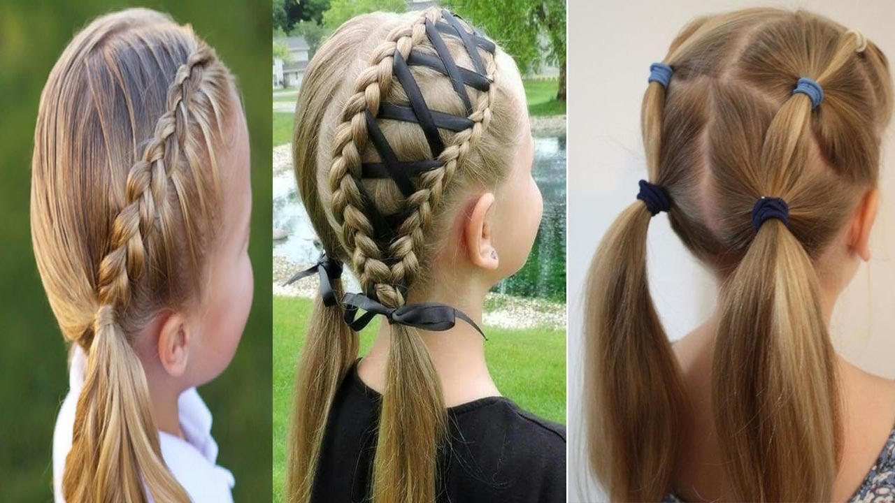 cute little girl's hairstyle quick