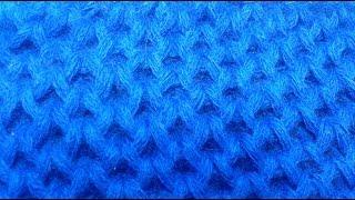 Вязание спицами . Узор соты #10