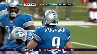 Lions vs Browns 2009 -  Stafford's clutch drive