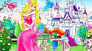 Принцессы Дисней. Собираем пазлы с принцессой Авророй. Disney princesses puzzles Sleeping Beauty
