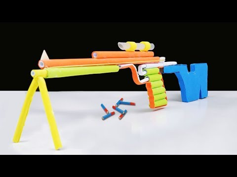 Jason DIY Paper Gun - How to Make a Paper Sniper Rifle that Shoots