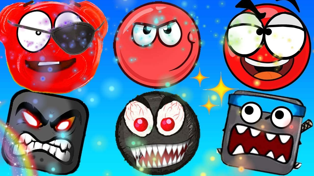 ОЧЕНЬ СИЛЬНЫЙ ЗЛОДЕЙ! ЖЕЛЕЙНЫЙ МЕДВЕДЬ ВАЛЕРКА в мире КРАСНОГО ШАРИКА Red Ball 4 игровой мультик