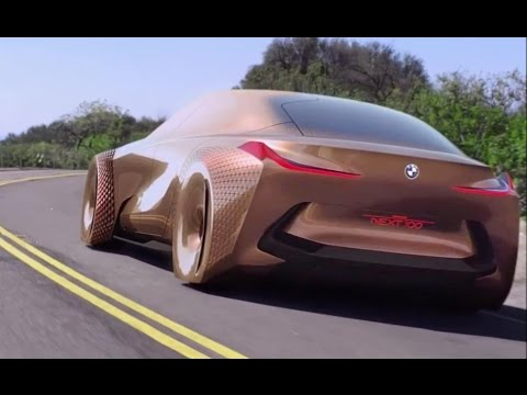 bmw vision next 100 interior exterior and drive youtube. Black Bedroom Furniture Sets. Home Design Ideas