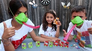 Tic Tac Tongue Game Challenge ! Family Fun Video
