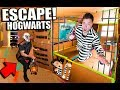 24 HOUR ESCAPE HOGWARTS CHALLENGE! BOX FORT Harry Potter ESCAPE ROOM