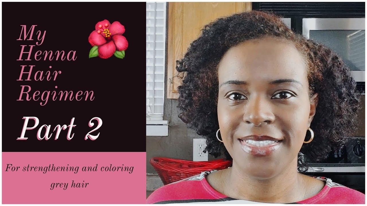 Part 2 - Henna Regimen Tutorial   Color Natural Hair Without ...