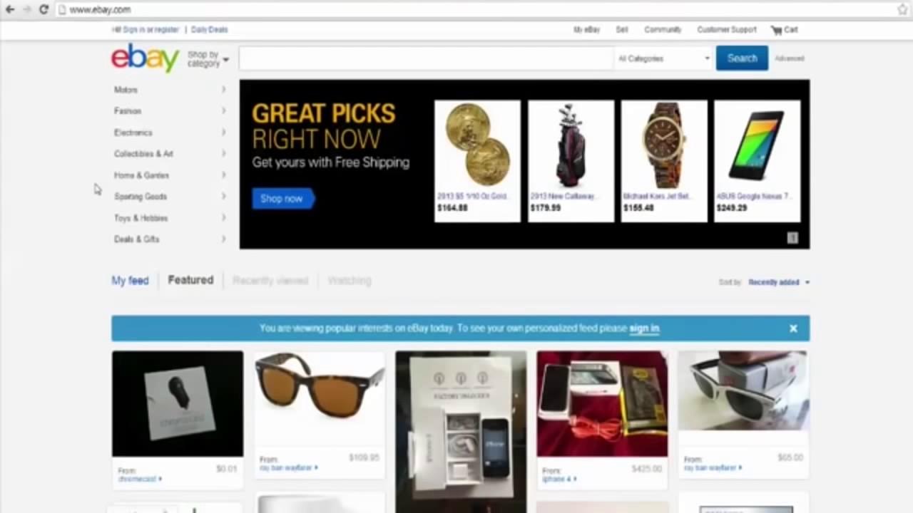 How To Make Money On Ebay Without Selling Anything Make Money On Ebay Youtube