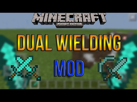 Dual Wielding Mod in MCPE!!! - Two hands mod in 0.13.1 - Minecraft PE (Pocket Edition)
