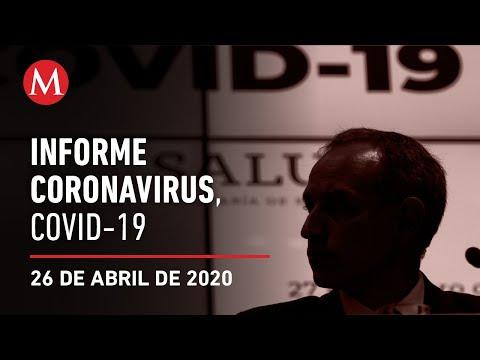 Informe diario por coronavirus en México, 26 de abril de 2020