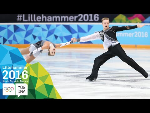 Figure Skating Pairs - Borisova & Sopot (RUS) win gold | Lillehammer 2016 Youth Olympic Games