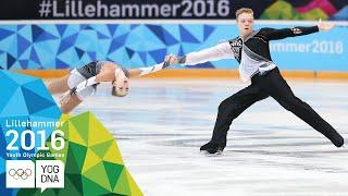 Figure Skating Pairs - Borisova & Sopot (RUS) win gold | Lillehammer 2016 Youth Olympic Games