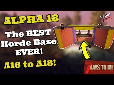 7 Days To Die Alpha 18 Base Build | BEST Horde Base EVER! @Vedui42 ✔️