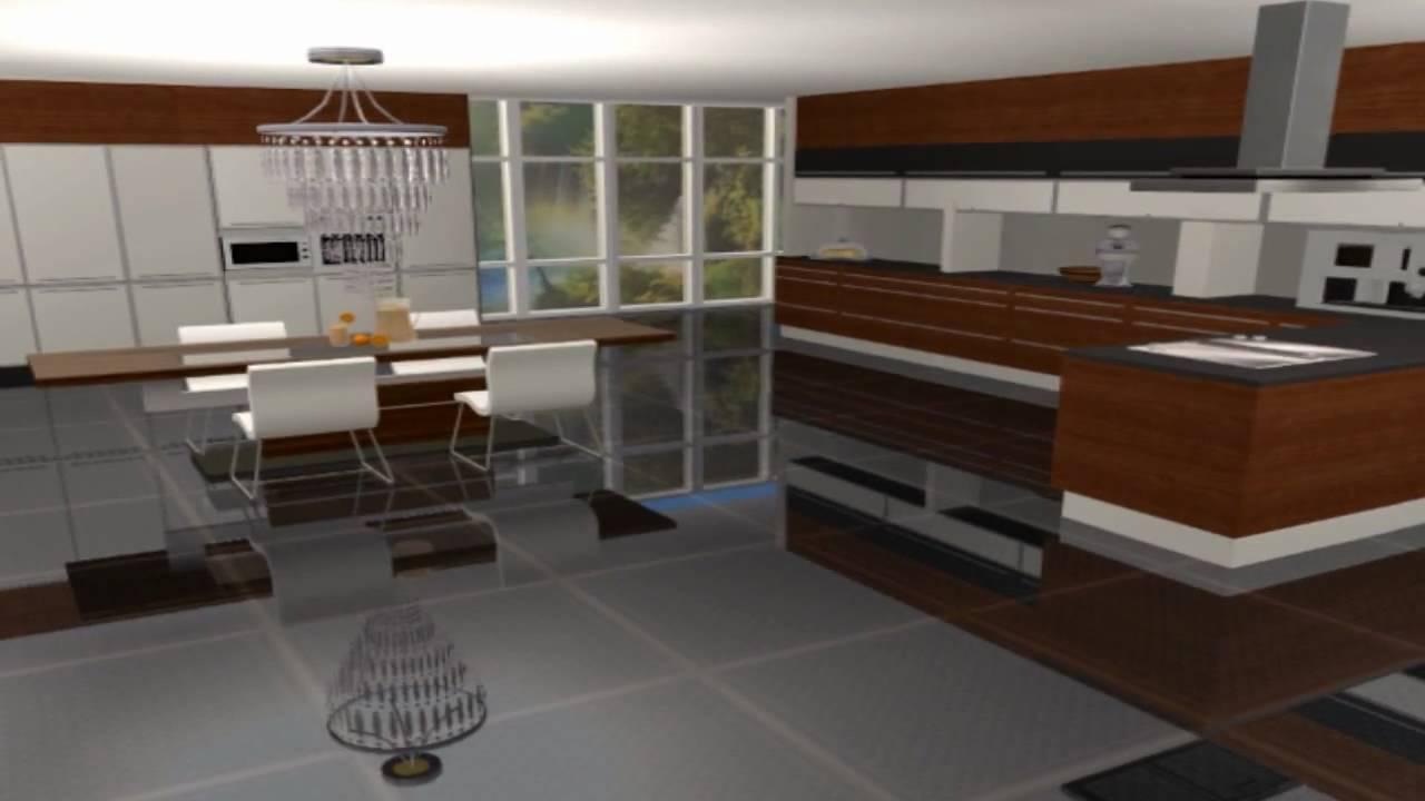 Interior designs vr 2 moderno sims 2 youtube for Sim interior designs