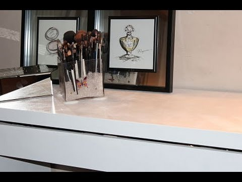 my ikea malm dressing table gets a makeover youtube. Black Bedroom Furniture Sets. Home Design Ideas