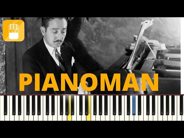 Billy Joel - Pianoman piano tutorial  Eenvoudig voor beginners.