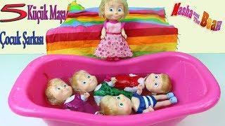 Beş Küçük Maşa Zıplamış Yatakta Çocuk Şarkıları Eğlenceli Çocuk Şarkısı