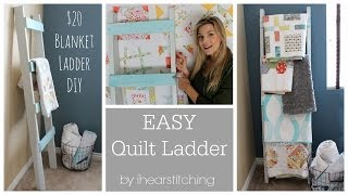Easy DIY Blanket Ladder Tutorial