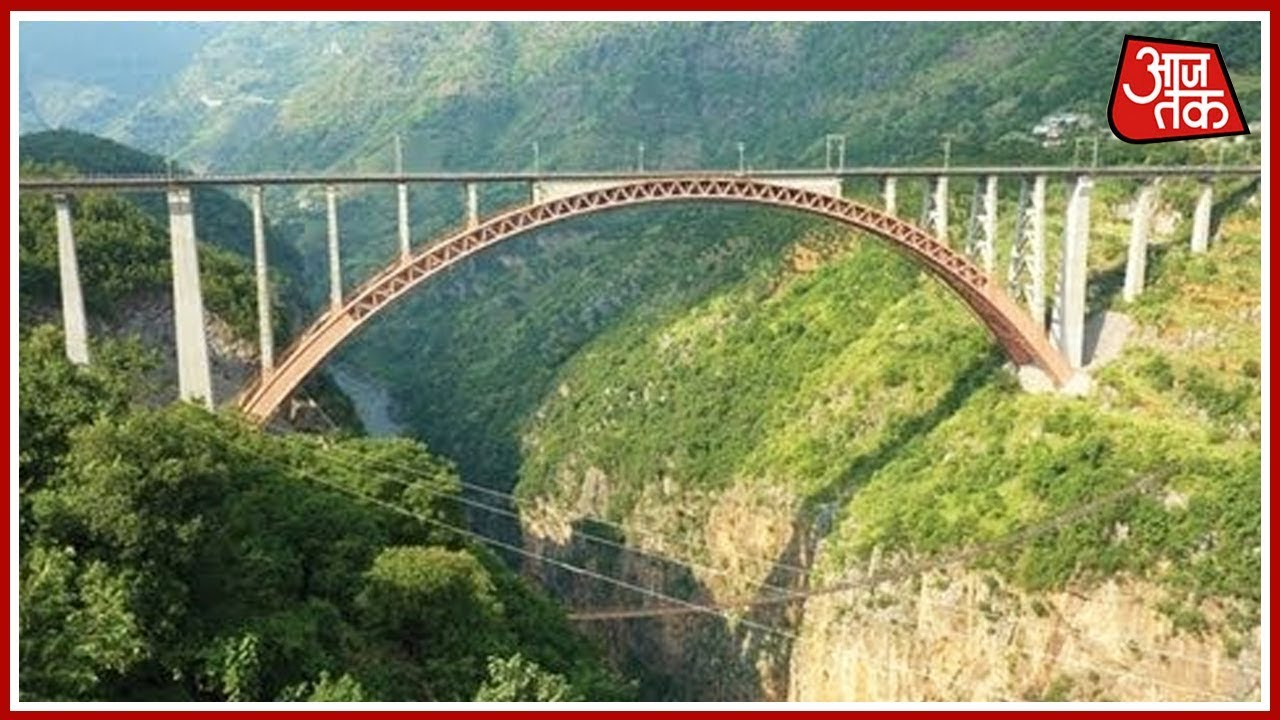 World's Tallest Railway Bridge Built By Indian Railway on Chenab River In  Kashmir